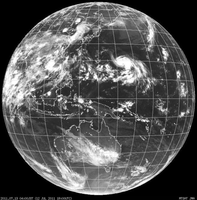Japońska Agencja Meteorologiczna, formująca się Mo-Na