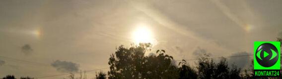 Słońce w świetlistej obrączce