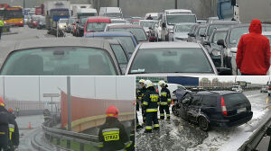 """Ten wypadek sparaliżował miasto. """"Kierowca się oddalił, mógł być pijany"""""""
