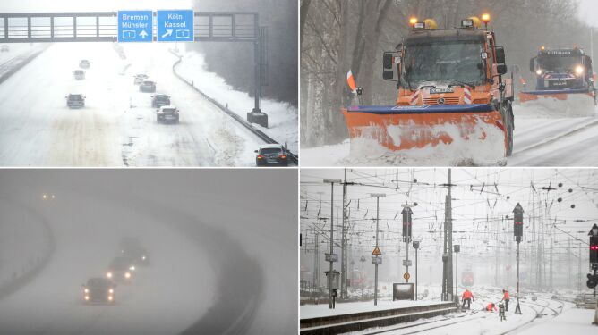 Setki wypadków, odwołane połączenia kolejowe. Służby proszą o zostanie w domach