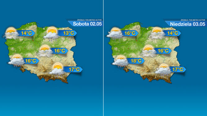 Prognoza na majówkę: burze, deszcz i śnieg. <br />Jednak jest też szansa na słońce