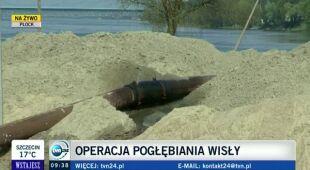 Pogłębianie Wisły w Płocku będzie kosztowało 5 mln zł (TVN24)