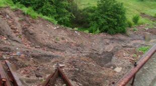 Ziemia osunęła się w Szprotawie (TVN24)